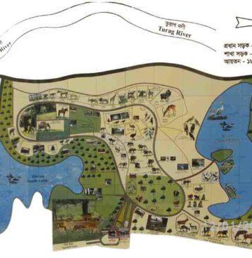 Dhaka Zoo Map